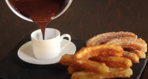 2 Ingredient Churros And Hot Chocolate