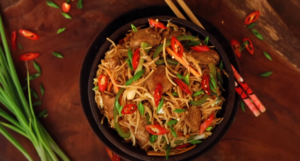 spicy chicken noodles recipe